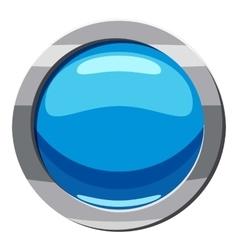 Circle blue button icon cartoon style vector