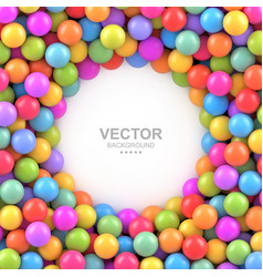 colorful balls background with place for your vector image