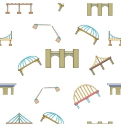 Crossing river pattern cartoon style vector