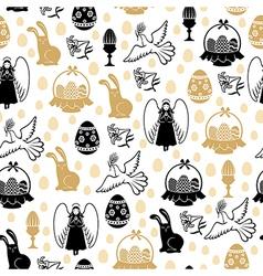 easter angel pattern vector image