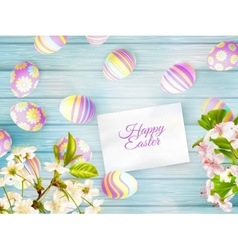 Easter background with cherry twigs EPS 10 vector image vector image