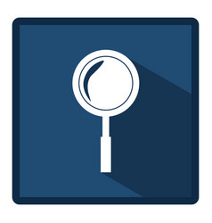 emblem magnifying glass icon vector image vector image