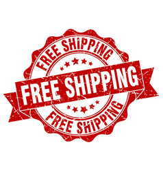 free shipping stamp sign seal vector image