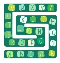 Funny alphabet of a board vector image