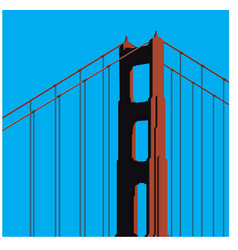 Golden gate bridge tower vector
