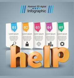 Help 3d business infographics vector