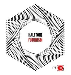 Hexagon Futuristic technology halftone design vector image