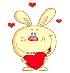 Holiday rabbit cartoon vector image