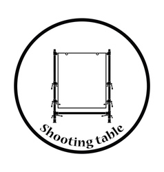 Icon of table for object photography vector image vector image