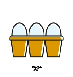 Line art eggs icon infographic element vector