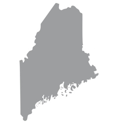 map of the US state of Maine vector image