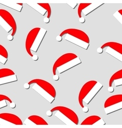 New year pattern with santa claus hat vector
