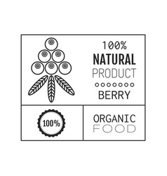 Organic food logo badge label for healthy vector