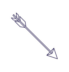 purple line contour of hunting arrow vector image vector image