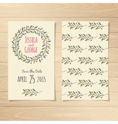 Save the Date Cards vector image