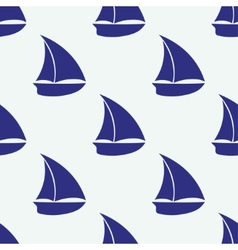 seamless pattern with sea elements ship vector image vector image