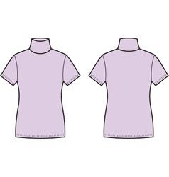 Short-sleeve turtleneck vector