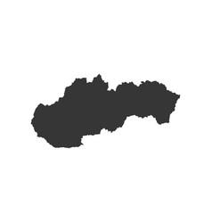 Slovakia map silhouette vector