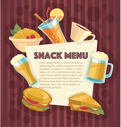 snack menu vector image vector image