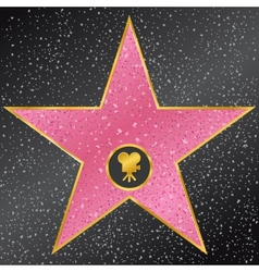 Star hollywood walk of fame vector