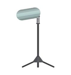 Studio lighting flat equipment isolated on vector