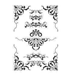 symmetric vignettes vector image