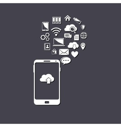 Use of cloud computing storage and applications on vector