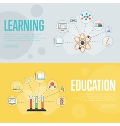 Education infographics concept banners vector