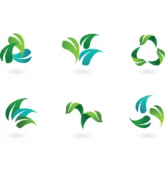 eco leaves vector image