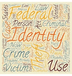 Case law identity theft text background wordcloud vector