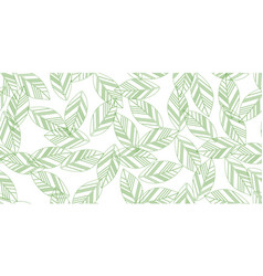 Green seamless leaves vector