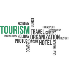 Word cloud - tourism vector