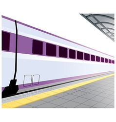 Train platform background vector