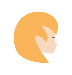 Profile woman romantic image vector