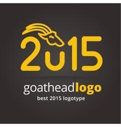 2015 goat logotype isolated on dark background vector