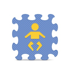 Baby sign made with alphabet puzzle vector