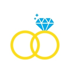 Flat web icon on white background wedding rings vector