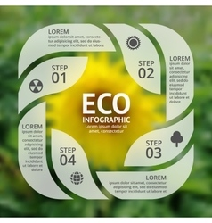 Circle sunflower eco infographic ecology vector