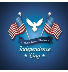 Independence day design vector