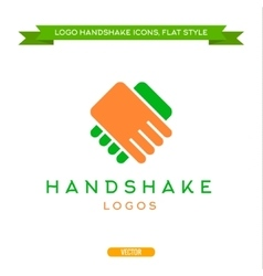 Abstract logo handshake flat style icon vector