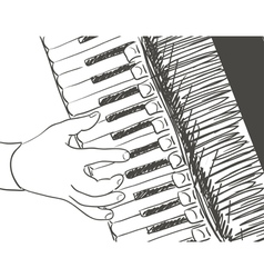 accordeon vector image