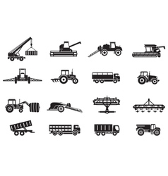Agricultural machinery equipment vector image