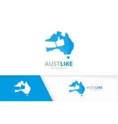 Australia and like logo combination vector