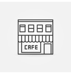 Cafe building icon vector image vector image