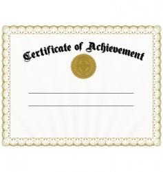 certificate vector image vector image