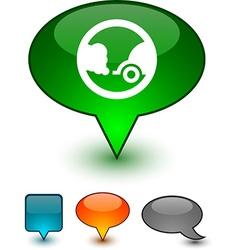 Ecology speech comic icons vector