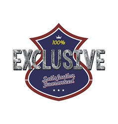 exclusive quality badge vector image