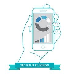 Flat countour design vector image