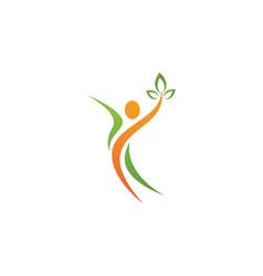 Fun people logo vector