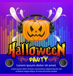halloween party concept vector image